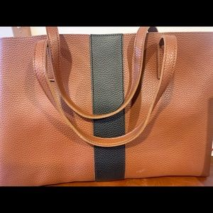 Vince Camino brown leather tote like NEW